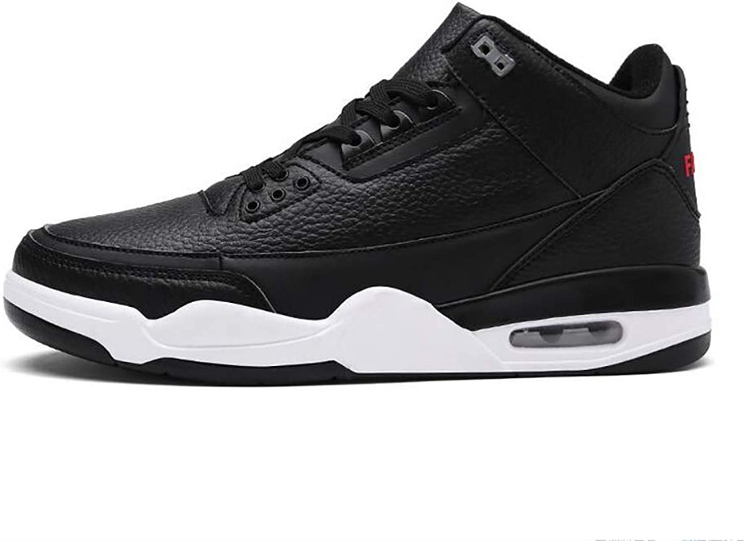 Y-H Men's Casual shoes Microfiber Leather Spring Fall Comfort Sneakers Men's Air-cushion Large Size Basketball shoes Student Slip-Ons Running shoes Black White Black White bluee