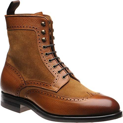 Herring Herring Docklands - Botas para hombre marrón Tan Grain and Suede, color marrón, talla 44.5