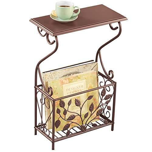 end table with magazine rack - 4