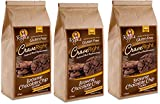 Gluten-free, 100% Vegan - 7 Oz, Containing 12 Individual Cookies (Brownie Chocolate Chip) (Pack of 3)