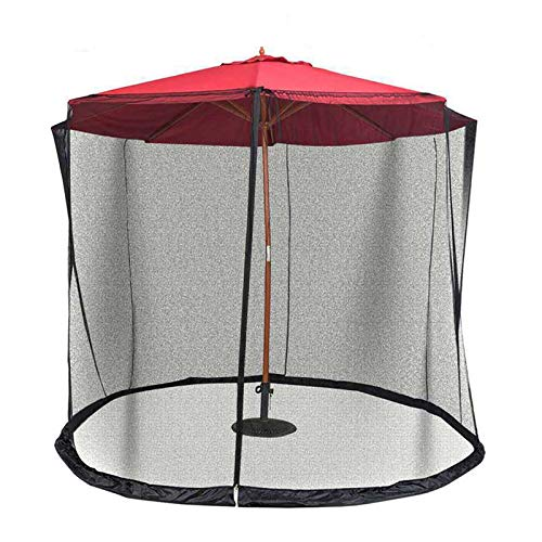 ZPONEED Outdoor Garden Umbrella Table Screen Parasol Mosquito Net Cover Bug Netting Cover, Parasol Converter Cover Turn Your Parasol into a Gazebo, Umbrellas and Base Not Included (300*230cm, Black)