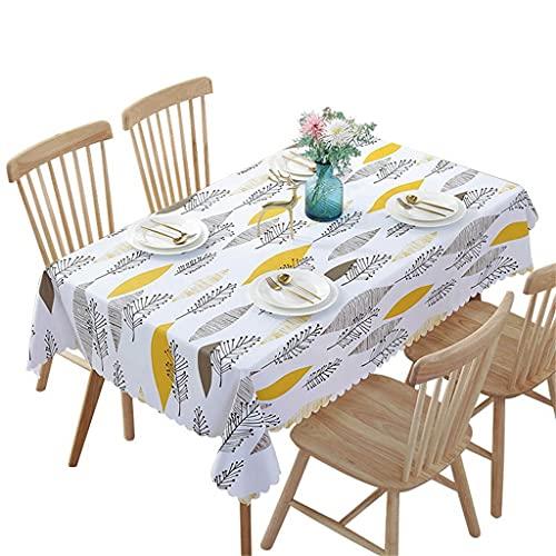YOUCHOU Manteles Impermeables de PVC, Mantel Pastoral de Planta, Mantel de Fondo, Mantel de plástico, manteles para decoración del hogar