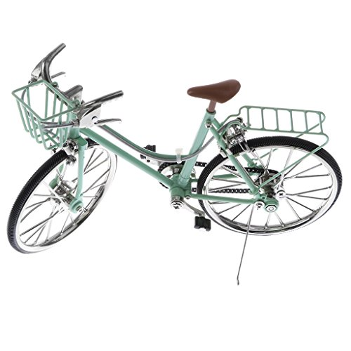 1:10 Modellini Diecast Biciclette Cycle Racing Cesto Sedile Dietro Lega Verde