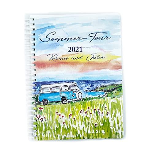 Cuaderno de viaje personalizado, DIN A5, páginas interiores con lunares