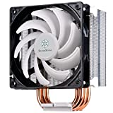 Silverstone Tek Argon Series CPU Cooler with 120mm Cooling Fan for Socket LGA775/1155/1156/1366/2011, AM2/AM3/FM1/FM2, White AR01