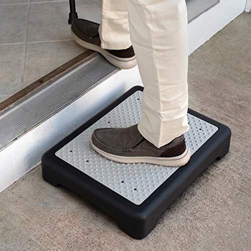 Hoovy 3.5†Step Riser – Portable One Step Stool for Elderly & Disabled –Antislip Half Step for Indoor & Outdoor Stairs, Cars, Bed, Chair, Shower – Lightweight Mobility Safety Tread for Up to 400lbs