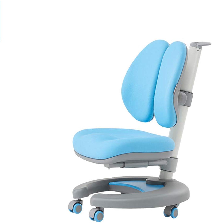 Huifang Corrective chair QFFL jiaozhengyi Korrekturstuhl Liftable Rückenlehne Haltung Stuhl Kinder Computer Schreibtisch Studie Stuhl Student Drehstuhl Schreib Stuhl 2 Farben Optional (Farbe   Blau)