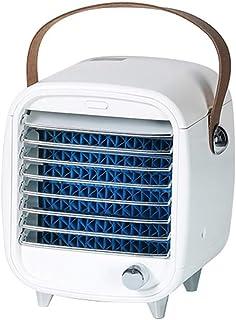 El aire frío Mini, personal del acondicionador de aire del ventilador de refrigeración con la manija, ventiladores incorporados Ice Box regulación de velocidad sin escalonamiento