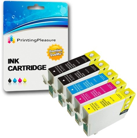 5 Compatibili 18XL Cartucce d'inchiostro per Epson Expression Home XP-102 202 205 212 215 225 30 33 302 305 312 315 322 325 402 405 405WH 412 415 422 425 | T1811-T1814 (T1816)