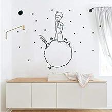 Pegatinas de pared de príncipe pequeño para habitación de bebé, decoración de casa extraíble, pegatina de vinilo adhesiva ...
