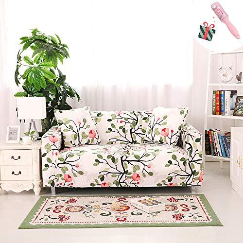 Elastisch Sofa Überwürfe Sofabezug, Morbuy Klassische Eleganz Ecksofa L Form Stretch Antirutsch Sofa Abdeckung Hussen für Armlehnen Sofa Sesselbezug Couchbezug (2 Sitzer,Feder B)