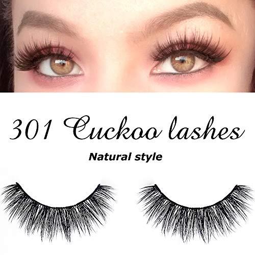 Cuckoo False Eyelashes 3D Faux Mink Lashes Dramatic Natural PBT Silk Fiber 3Pairs False Lashes High Volume Fluffy 100% handmade