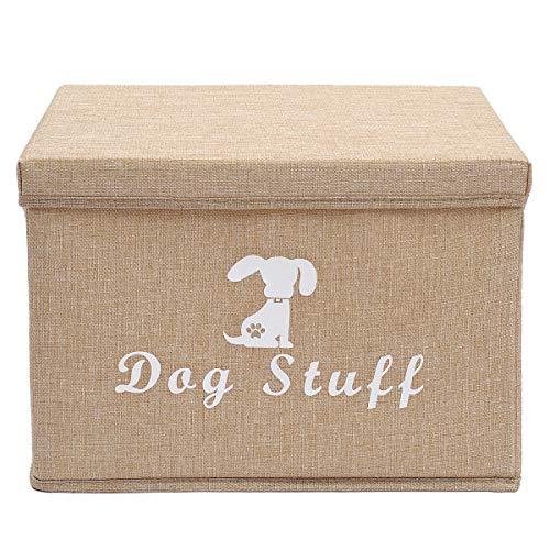 Linnen opbergmand Bin borst Organizer - Perfect voor het organiseren van hond kleding & accessoires opslag, hond Shirts, hond jassen, hond speelgoed, hond kleding, hond jurken, Gift manden, Beige