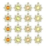 Pendientes Charms Piedra De Cristal Brillante Colgante De Ópalo De Girasol Suministros De Artesanía