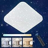 Oeegoo Lámpara de Techo LED Regulable con Control Remoto, Luz de Estrellas, 24W Plafón LED, 2050LM Decoración de Luz de Estrellas para Habitación infantil, Sala de Estar, Dormitorio, Comedor