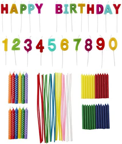 Wilton Rainbow Birthday Party Candles Set 83 Piece product image