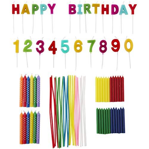 Wilton Rainbow - Juego de velas para fiesta de cumpleaños, 83 piezas
