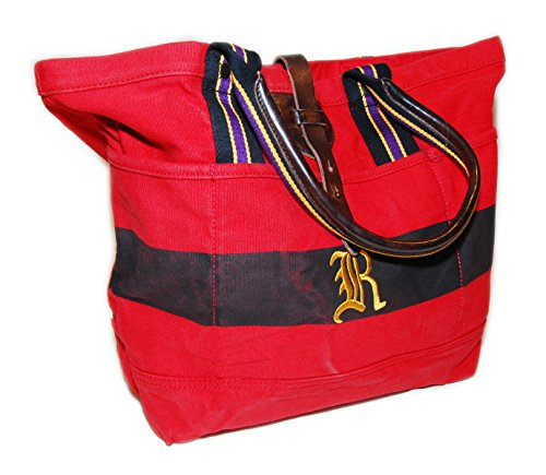 Polo Ralph Lauren Rugby Canvas Carryall Tote Bag Red Black Purple Yellow