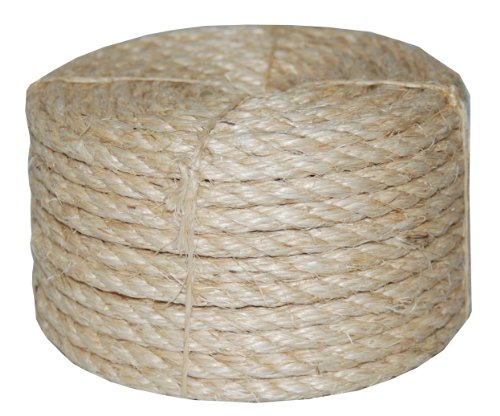 T.W Evans Cordage Co. 23-410 3/8-Inch by 100-Feet Twisted Sisal Rope,Tan,Onе Paсk