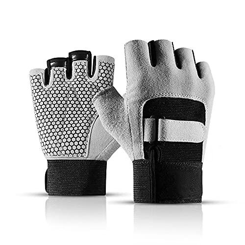 YFMYY Guantes deportivos de medio dedo para entrenamiento al aire libre, guantes de palma antideslizantes de medio dedo, para ciclismo, patinaje sobre rodillos, al aire libre, escalada en roca