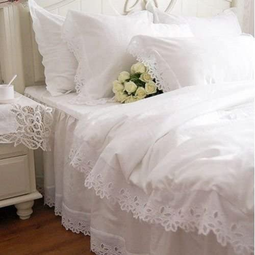 Swanlake Shabby and Elegant Our shop most popular White Lace Manufacturer direct delivery Duvet Cutwork Cove Cotton