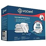 Vacwel Vacuum Storage Bags for Clothes, Ziplock Space Saver Bags (XXXL + JUMBO Size)