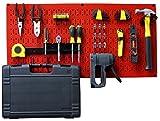 Wall Control Modular Pegboard Tool Organizer System - Wall-Mounted Metal Peg Board Tool St...