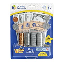 Money Math: Use the realistic play money to teach lessons in making change, identifying value, and adding and subtracting. Made from heavy-duty paper and printed on both sides, each pretend bill is ready for countless pretend cash transactions! The p...