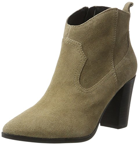 Buffalo London Damen 414-9489 Cow Suede Stiefel, Grau (Taupe 01), 38 EU