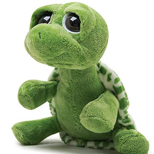 Daxiong 25cm Nette große Augen-grüne Schildkröte-weiches Plüsch-Puppe-Spielzeug-reizendes Marinetier-Kissen-Kissen,100cm