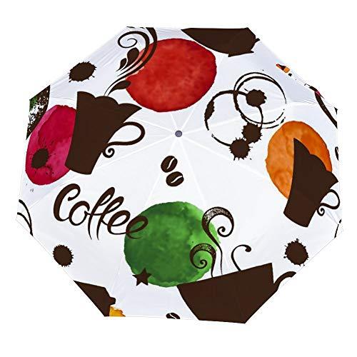 SARA NELL Folding Umbrella Cups Of Coffee Umbrellas