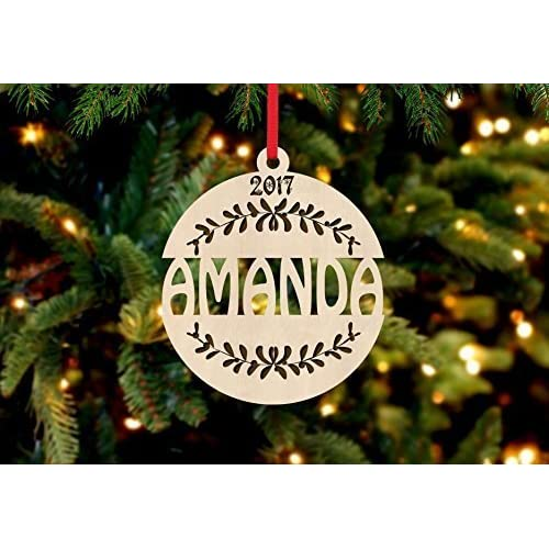 Christmas Ornaments With Names On Them.Christmas Ornaments With Names On Them Amazon Com