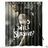 Shuli888 Walking Dead Season 6 - Cortina de Ducha (Tela Duradera, Accesorios de baño creativos con...