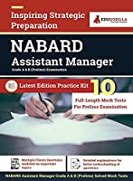 NABARD Assistant Manager Prelims Exam 2021 (Grade A & B) 10 Full-length Mock Tests (Solved) Preparation Kit by EduGorilla