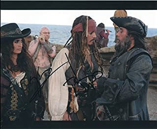 PIRATES of the CARIBBEAN - On Stranger Tides (Johnny Depp & Penelope Cruz) 8x10 Cast Photo Signed In-Person