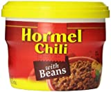 HORMEL Micro Cup Chili with Beans, 15 Ounce (Pack of 8)