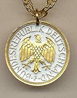german silver coin necklace