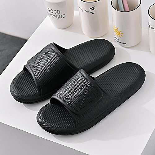 LLRR Sandalias de Punta Abierta Casual,Zapatillas de baño para Hombre, Sandalias Suaves Gruesas Impermeables-Negro_42 / 43,Women Zapatos de Playa