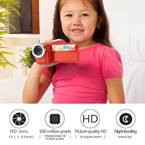 Videocamera Digitale Durevole, videocamera Digitale, Fotografia a Cristalli liquidi TFT LCD di Piccole Dimensioni per Ciclismo da Corsa(Red)