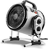 Kücheks Calentador de Ventilador eléctrico Industrial 3000w Calentador de Aire con termostato automático Impermeable 3 velocidades para Invernadero Taller Garaje, el baño está Disponible