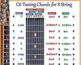 C6 TUNING 8 STRING LAP STEEL DOBRO GUITAR CHORDS CHART