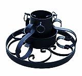 Die Größe beträgt ca.: Ø 34 cm Gewicht ca.: 2,5 Kg - Material: Metall - für Bäume bis 250 cm Höhe Mitteldorn und 3 Fixierschrauben inkl. Wasserschale im Antikdessin - Schmiedeeisern mit edlen Verzierungen
