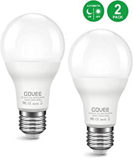 Govee LED Dusk to Dawn Lights Bulb 13.5W Sensor Light Bulbs with Photocell, A20 100W Equivelent Automatic Indoor Outdoor Lighting Lamp for Porch Hallway Patio Garage (E26/E27, 1200lumen, 6000K) 2 Pack