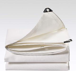 QVIVI Lonas Impermeable PVC 500 G/M² Cubierta Blanca Lona De Funda Protectora Antienvejecimiento Resistente Al Desgaste para Materiales Construcción Madera Camiones 2 * 2m