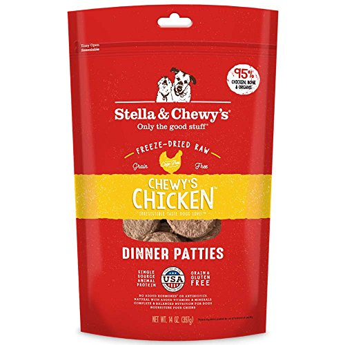 Stella & Chewy's Freeze-Dried Raw Chewy's Chicken Dinner Patties Dog Food, 14 oz. Bag