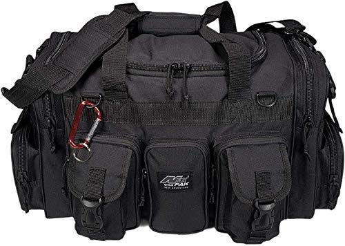 Nexpak TF122BK Black Waterproof Duffel Duffle Bag Tactical Military Range Molle Outdoor Travel + Key Ring Carabiner