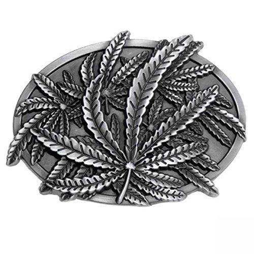 Marcas de marihuana, marihuana, antiguo de la hebilla de plata-