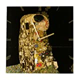 Goebel 66886813 Gustav Klimt Wanduhr Der Kuss