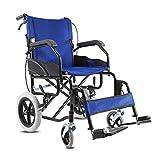 ZXL@ED Silla de Ruedas, Ältere Tragbare Ultralight Scooter Creative-Multifunktions-Folding Einfach Für Senioren Rollstuhl Armlehne/A -