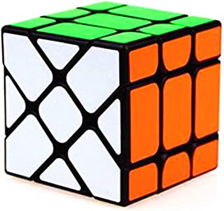 CuberSpeed YJ Fisher Cube V2 Black Magic Cube MoYu Color Sticker Fisher Cube v2 Black Yileng 3x3x3 Speed Cube Puzzle